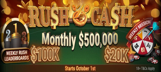 Rush&Cash Monthly $500.000 - a monthly promo from BestPoker and PokerOK
