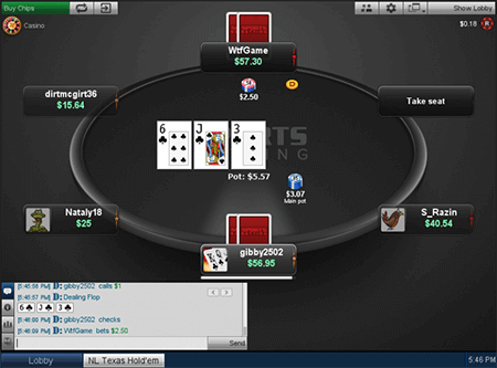 sportsbetting poker table